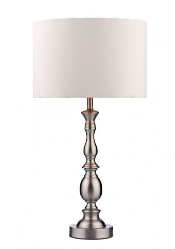 Madrid Satin Chrome Table Lamp MAD4246 (Class 2 Double Insulated)